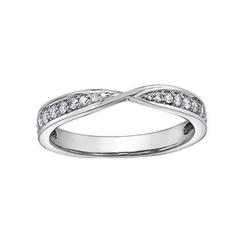 White Gold Diamond Stacking Ring