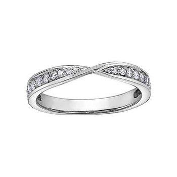 White Gold Diamond Stacking Ring