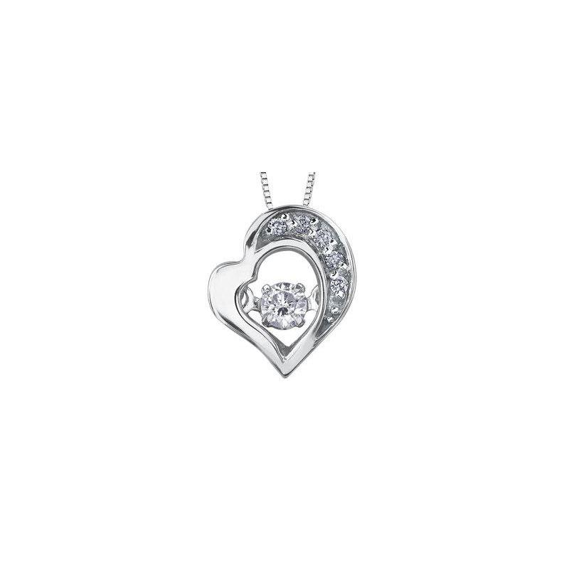 Diamond Days White Gold Pulse Heart Pendant