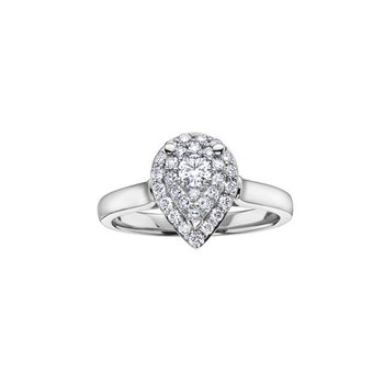 Pear-Shaped Design Diamond Ring