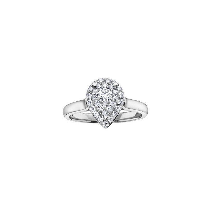 Diamond Days Pear-Shaped Design Diamond Ring
