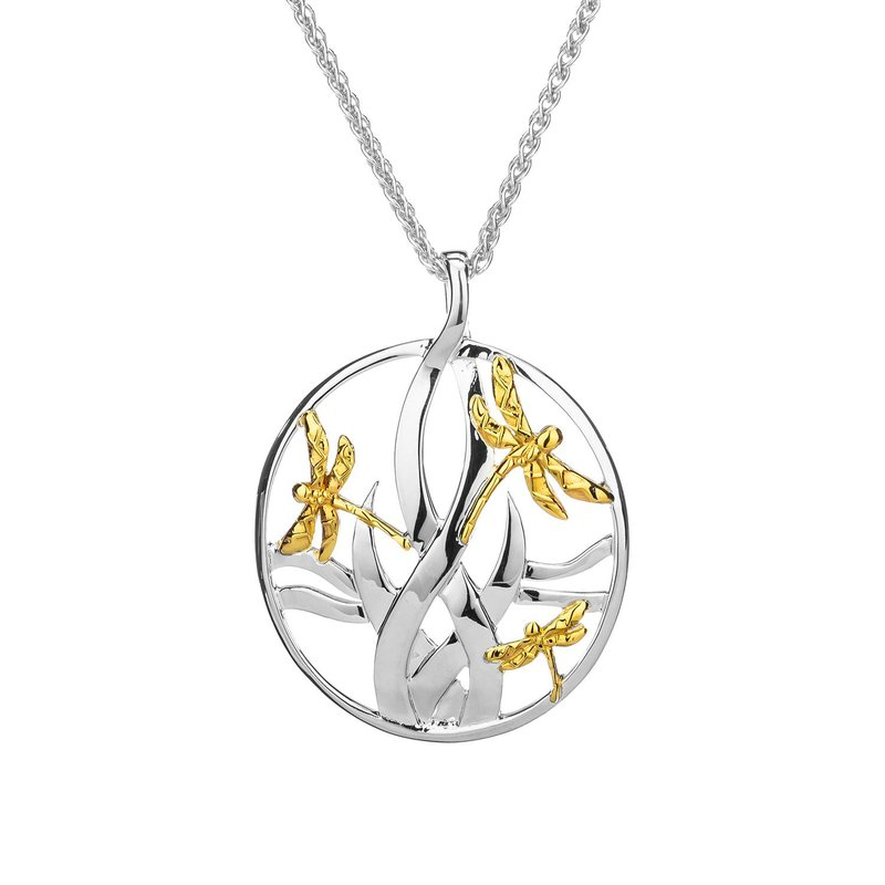 Keith Jack Dragonfly in Reeds Pendant Large