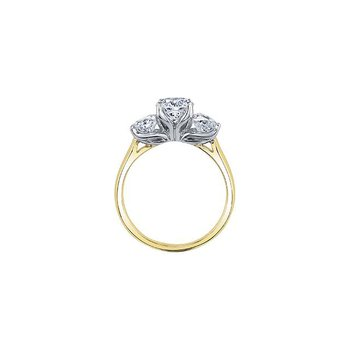 1.25CTW Three stone Ring