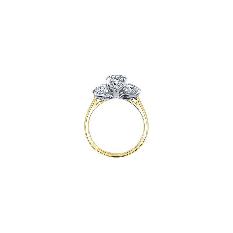 Maple Leaf Diamonds 1.25CTW Three stone Ring