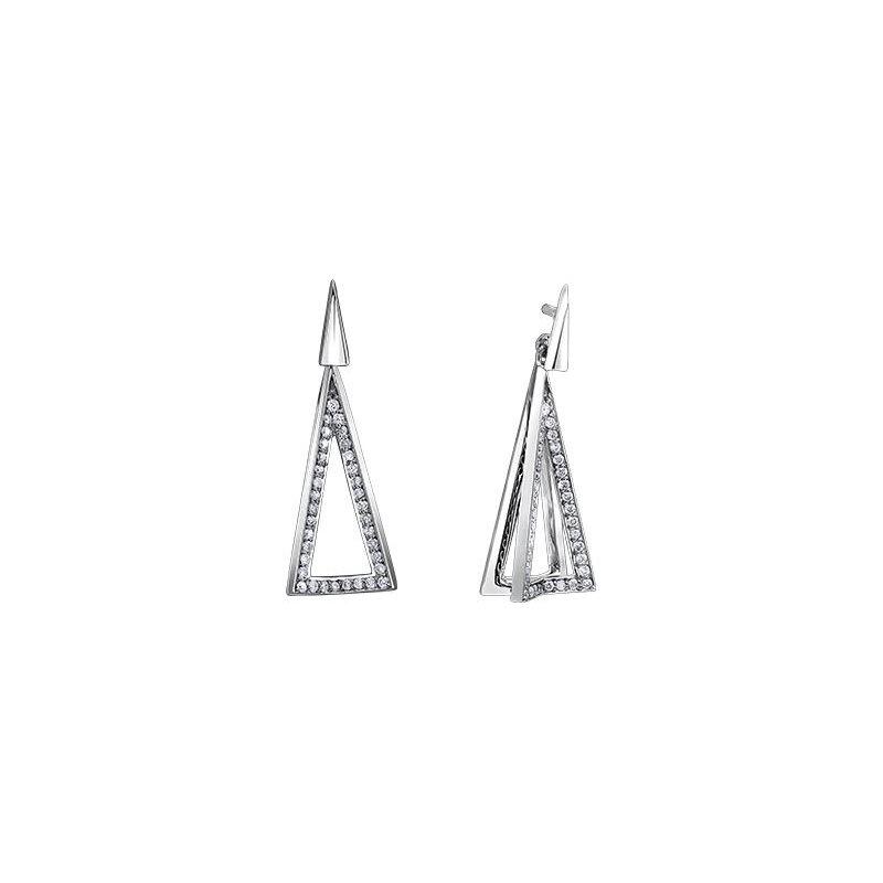Diamond Days Triangle Diamond Earrings