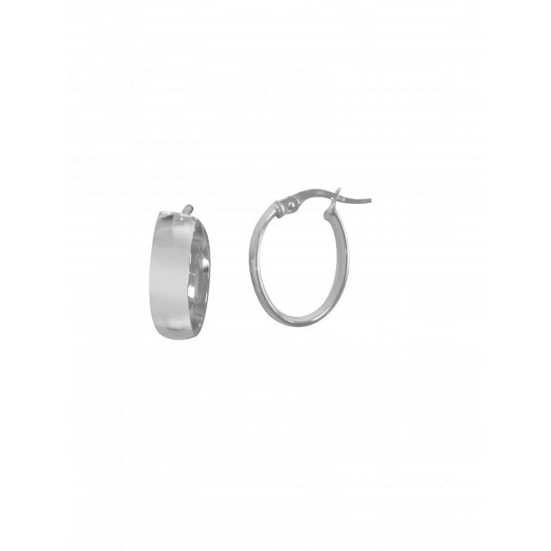 Richardson Signature 14K White Gold Small Oval Hoops