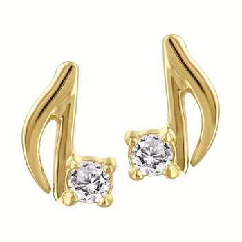 Music Note Diamond Studs