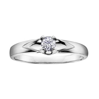 White Gold Promise Ring