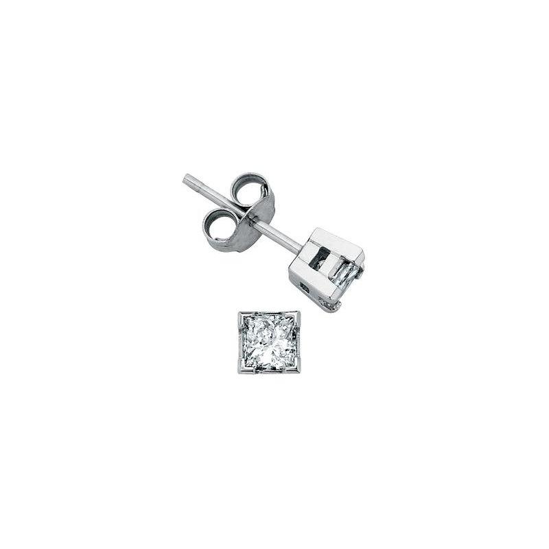 Maple Leaf Diamonds 0.10CTW Princess-Cut Diamond Solitaire Earrings