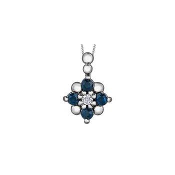 Sapphire & Diamond Pendant
