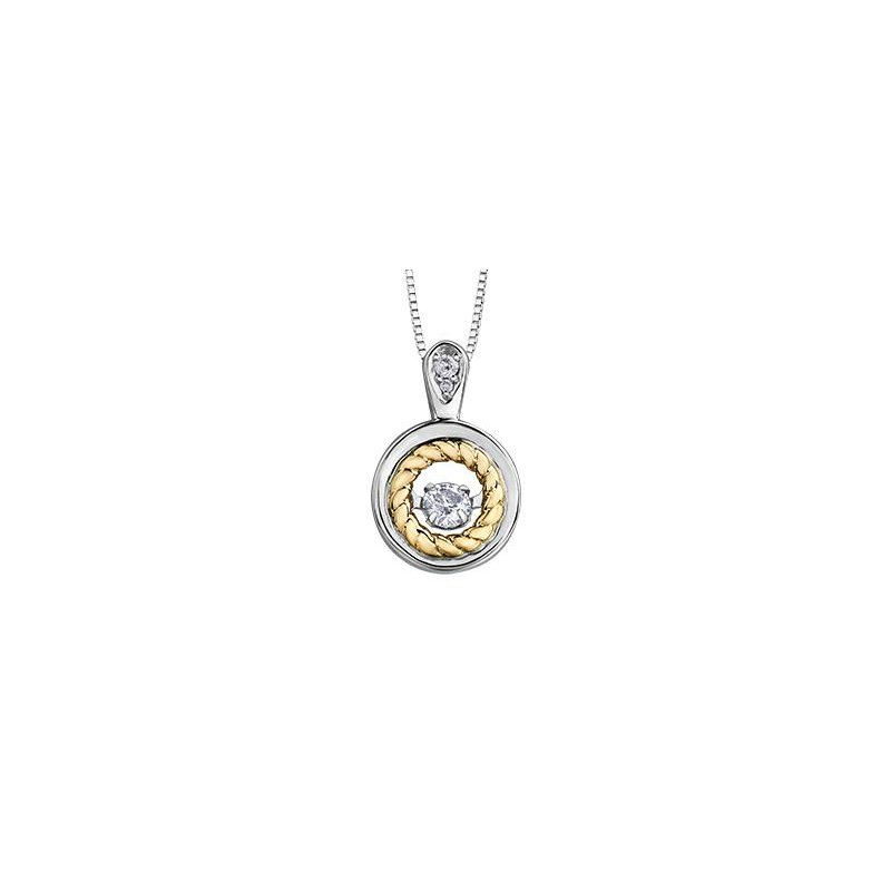 Diamond Days Two-Toned Diamond Pulse Pendant