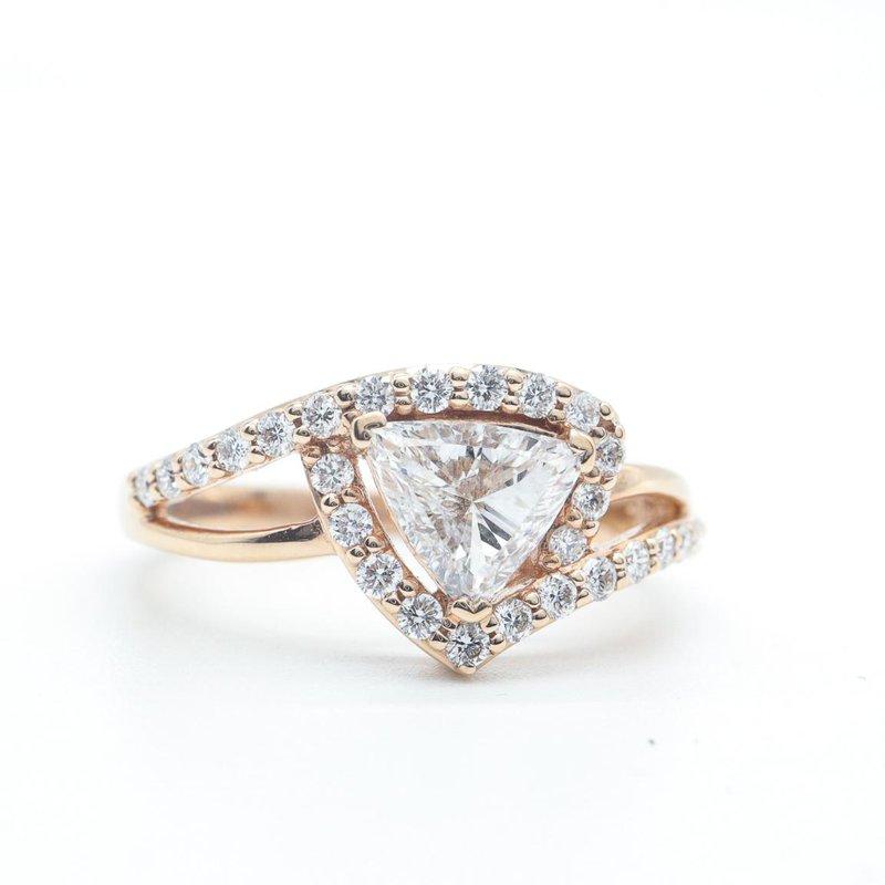 Maple Leaf Diamonds Trillion-Cut Diamond Ring