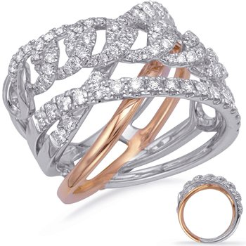 White & Rose Gold Diamond Ring