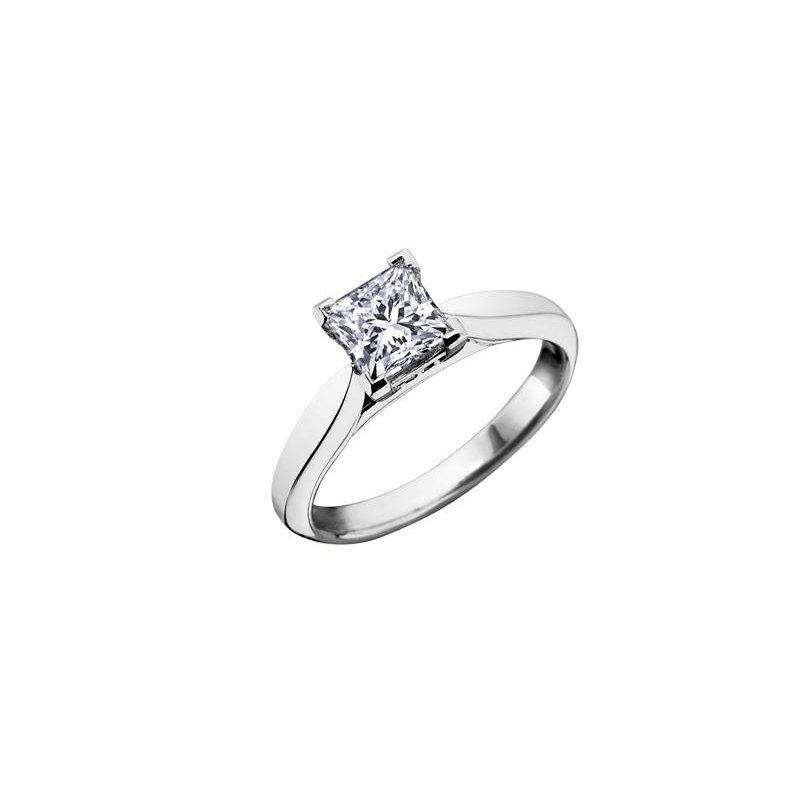 Diamond Days Princess-Cut Solitaire Diamond Ring