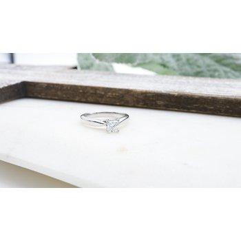 Princess-Cut Solitaire Diamond Ring