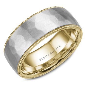 Bleu Royale Men's Wedding Band RYL-018WY85