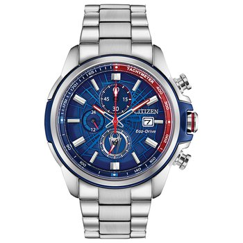 Men's Eco-Drive Watch- Spider Man