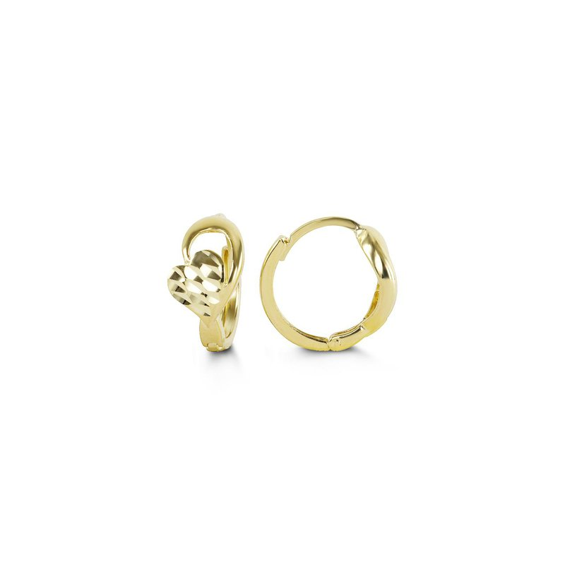 Richardson Signature Small Gold Heart Hoops
