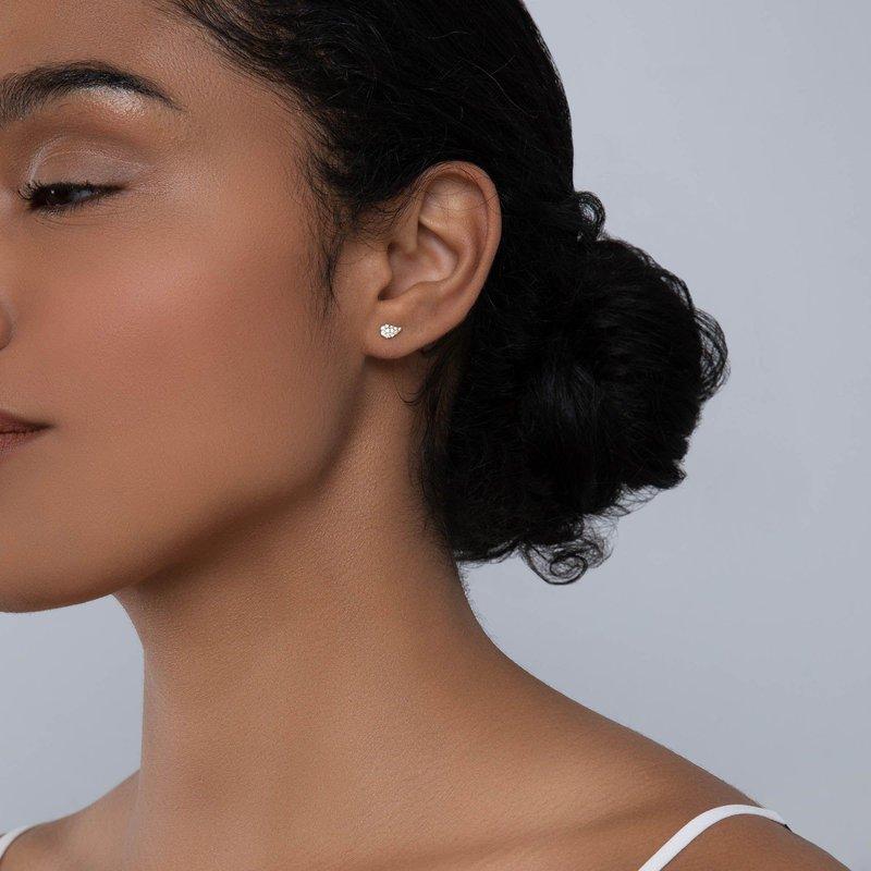 Bijoux Birks BIRKS PÉTALE Yellow Gold and Diamond Stud Earrings