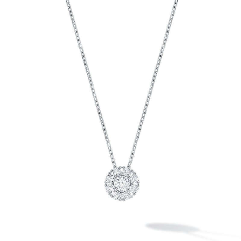 BIRKS SNOWFLAKE- White Gold Cluster Diamond Necklace