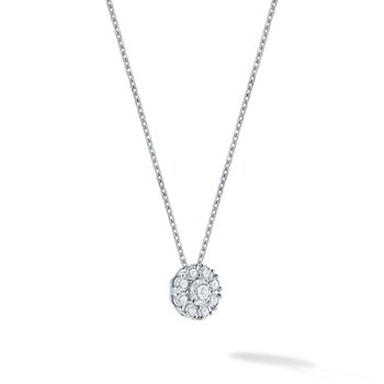 SNOWFLAKE- White Gold Cluster Diamond Necklace