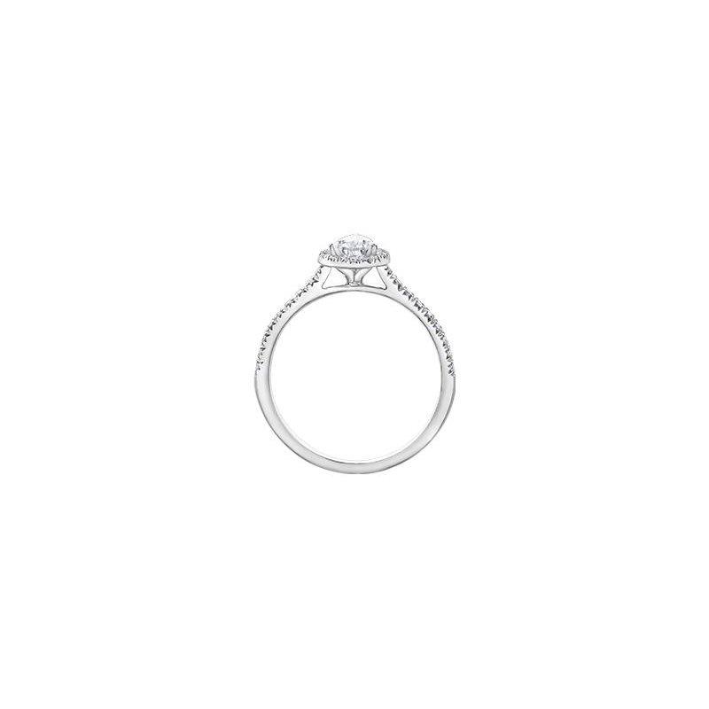 Maple Leaf Diamonds Halo Pear-Shaped Diamond Ring