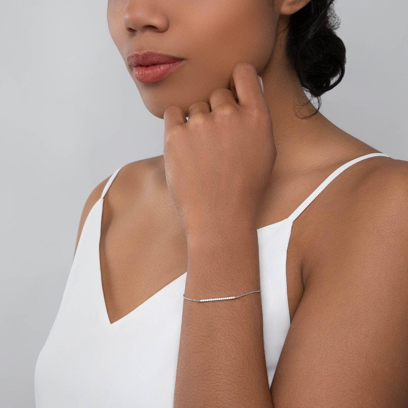 Bijoux Birks BIRKS ROSÉE DU MATIN Diamond Horizontal Bar Bracelet