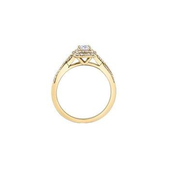 Yellow Gold Halo Twist Ring