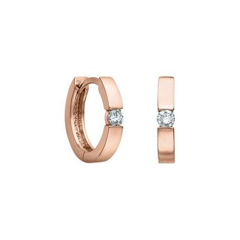 0.10CTW Rose Gold Huggies