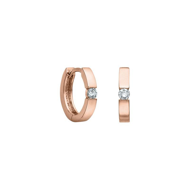 Diamond Days 0.10CTW Rose Gold Huggies