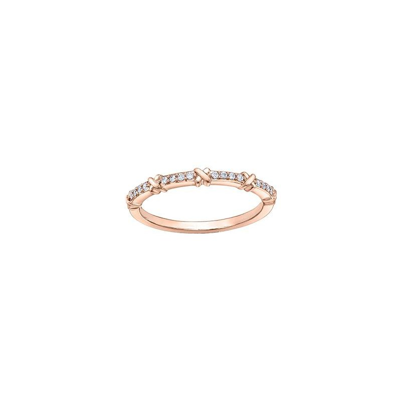 Diamond Days Rose Gold Diamond Stacking Ring