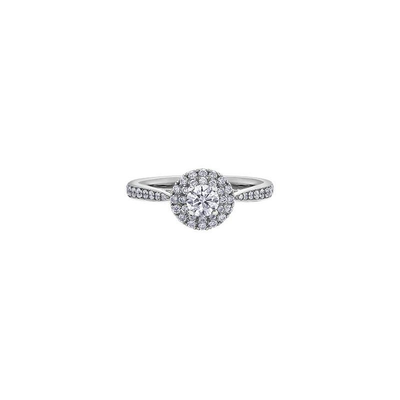 Maple Leaf Diamonds Diamond Halo Ring