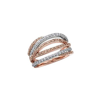 White & Champagne Diamond Ring