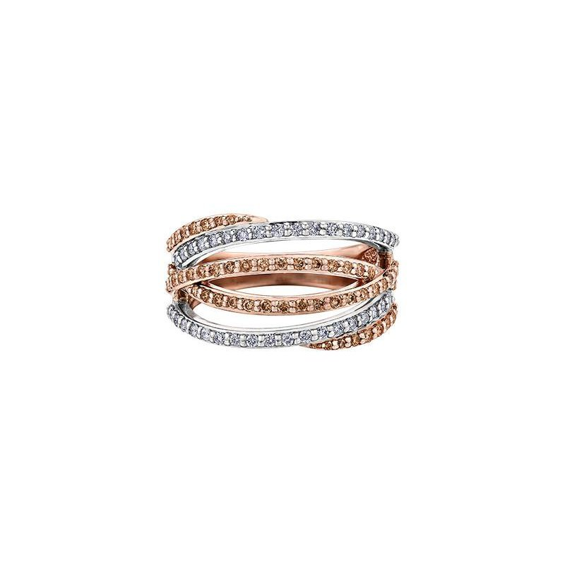 Diamond Days White & Champagne Diamond Ring