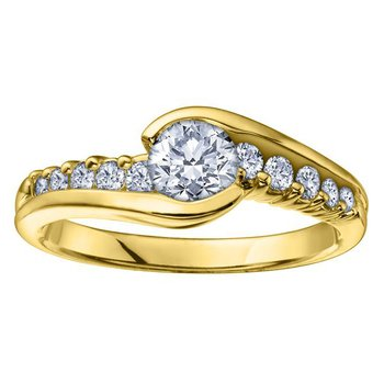 0.50CT Yellow Gold Engagement Ring