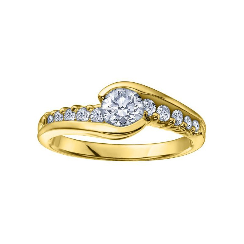 Maple Leaf Diamonds 0.50CT Yellow Gold Engagement Ring