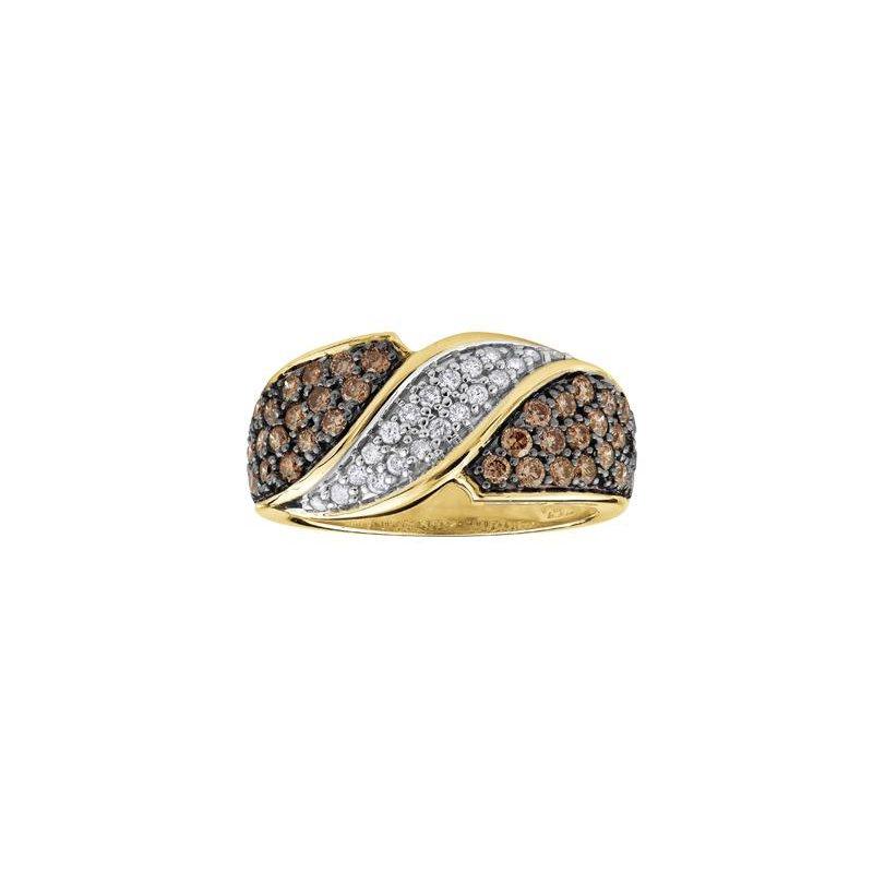 Diamond Days White and Champagne Diamond Ring
