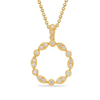Yellow Gold Diamond Drop Pendant