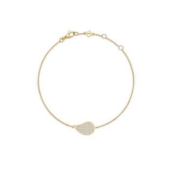 PÉTALE- Yellow Gold and Diamond Bracelet