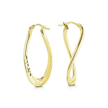 Yellow Gold Twist Hoops