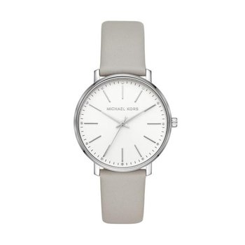 Pyper Gray Leather Strap Watch