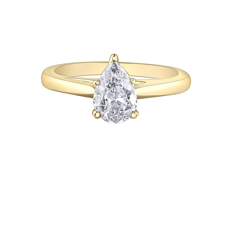 Maple Leaf Diamonds 1.00CT Pear-Shaped Diamond Solitaire Ring