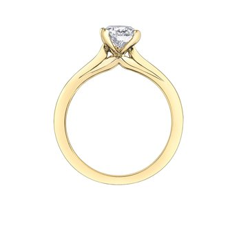 1.00CT Pear-Shaped Diamond Solitaire Ring