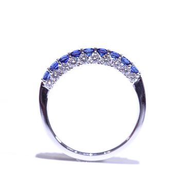 SEAMLESS- Sapphire & Diamond Band