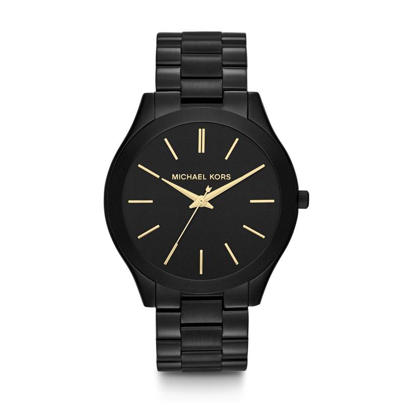 Michael Kors Slim Runway Black-Tone Watch