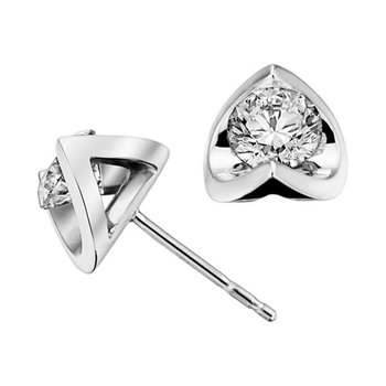 1.00CTW Canadian Diamond Solitaire Earrings