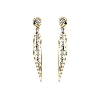 Shelly Purdy's Summer Willow Leaf Diamond Earrings