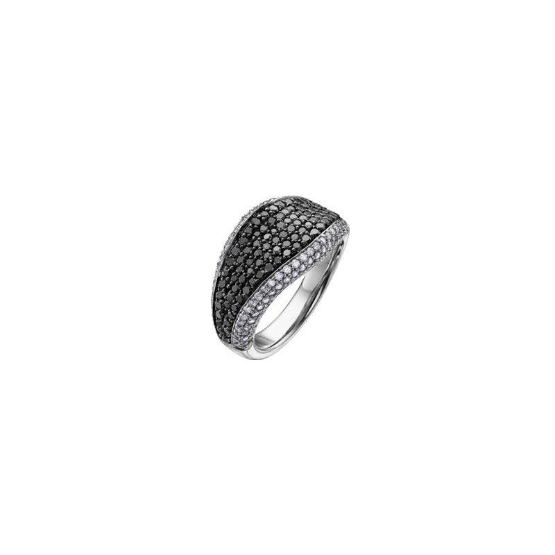 Diamond Days Black & White Diamond Dinner Ring