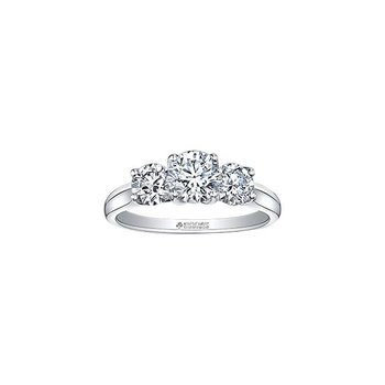 1.00CTW Three Stone Ring