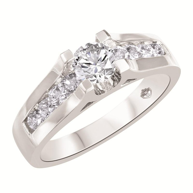 Fire and Ice White Gold Engagement Ring